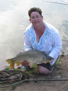 Liz with 10lb 4oz Common Carp