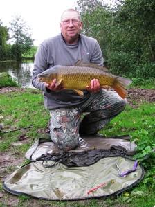 Last fish of the day: 14lb 0oz Common Carp