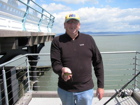 Steve With Crab - Mumbles Pier 02