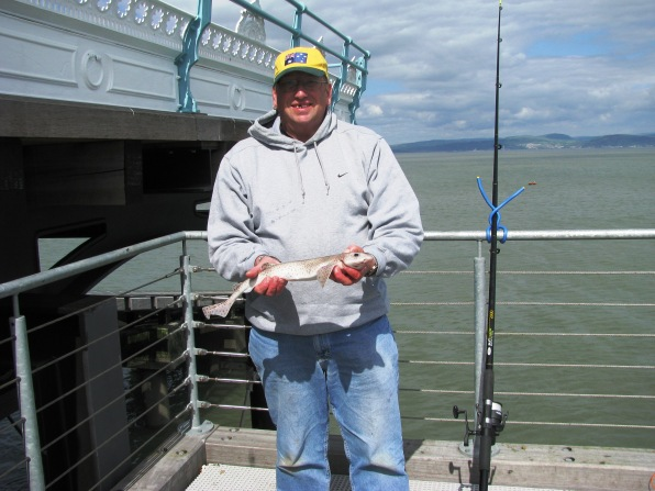 Steve With Dogfish - Mumbles Pier 01